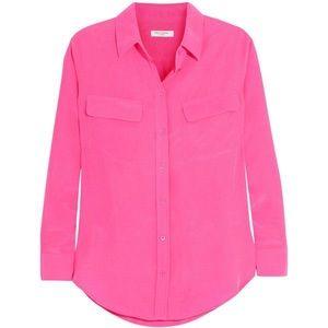 39ece4eb3e1961 Equipment Tops | New Signature Pink Fuschia Silk Blouse | Poshmark